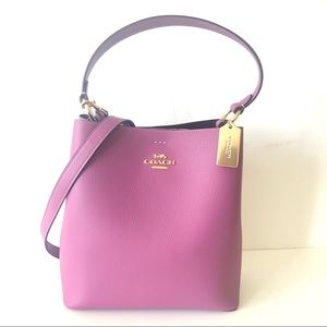 Coach Town Bucket Bag Lilac Purple Leather Purse